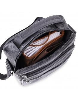 Мужская черная сумка на плечо Vintage 20466