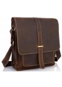Мужской мессенджер, кожаный коричневый G2093-1B