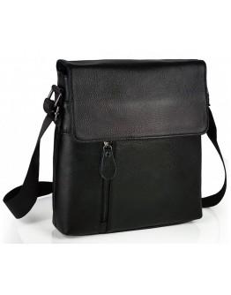 Кожаная мужская сумка черная, на плечо A25-238A-1