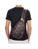 Фотография Компактный и модный коричневый мужской рюкзак 72467