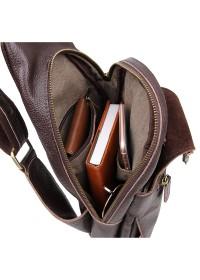 Компактный и модный коричневый мужской рюкзак 72467