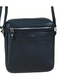 Кожаная мужская черная сумка на плечо 27700-SGE