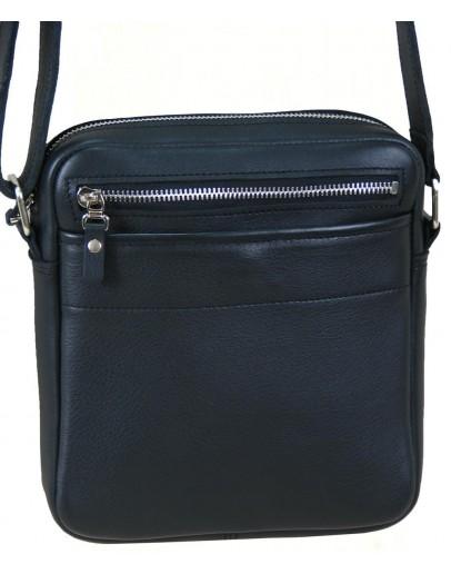Фотография Кожаная мужская черная сумка на плечо 27700-SGE