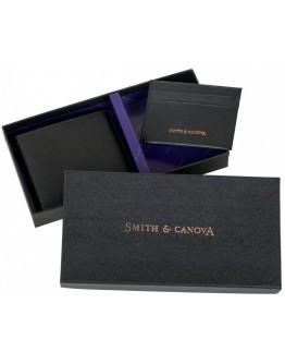 Кожаные кошелёк и картхолдер набор Smith & Canova 28652 (Black)