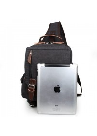 Черная мужская сумка, тканевый рюкзак 3010a