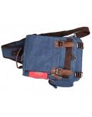 Фотография Синяя мужская сумка, тканевый рюкзак 3010k