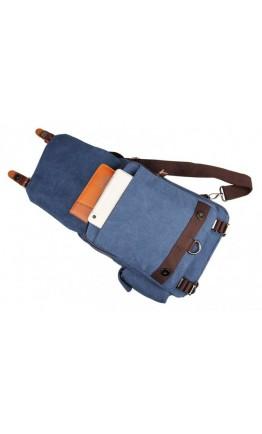 Синяя мужская сумка, тканевый рюкзак 3010k