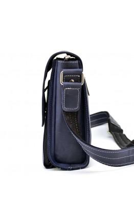 Кожаный синий мужской мессенджер Tarwa bx3027-2blue