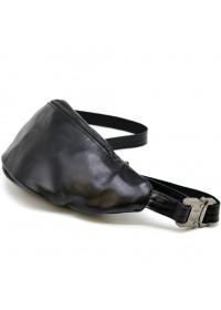 Черная сумка на пояс мужская, бананка GA-3036-3md