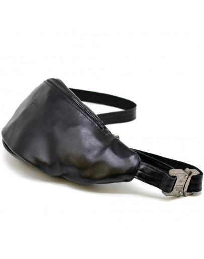 Фотография Черная сумка на пояс мужская, бананка GA-3036-3md