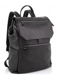 Кожаный мужской черный рюкзак Tiding Bag 303A