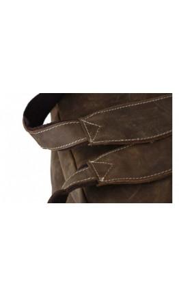 Лаконичный и очень модный кожаный коричневый рюкзак 73072