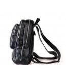 Фотография Чёрный небольшой кожаный мужской рюкзак 73102