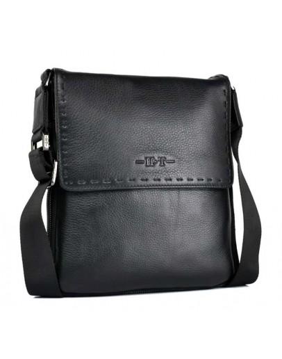 Фотография Мужская кожаная сумка через плечо 3193-3 BLACK