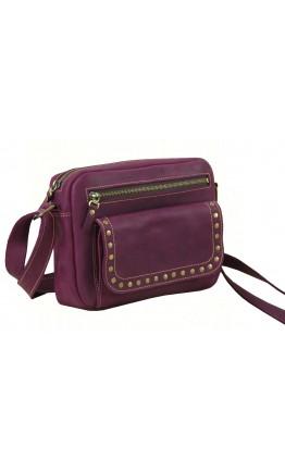 Женская кожаная бордовая сумка 331129W-SGE