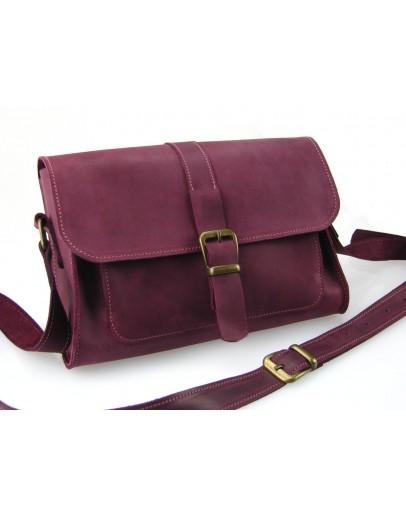 Фотография Кожаная женская бордовая сумочка 331188W-SGE