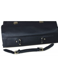 Статусный черный портфель на двух замках 73820