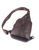 Фотография Коричневая сумка мужская рюкзак на одно плечо 74007C