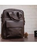 Фотография Мужская кожаная коричневая сумка формата А4 SHVIGEL 11168