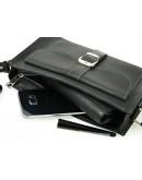 Фотография Женская черная кожаная сумка 47149-SGE