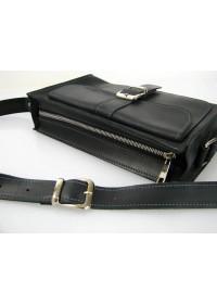 Женская черная кожаная сумка 47149-SGE