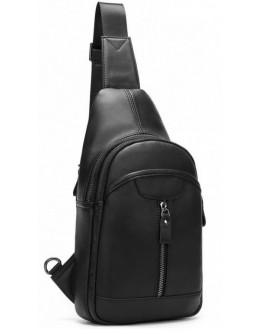 Черный мужской кожаный слинг 75007A