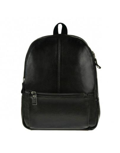 Фотография Чёрный кожаный рюкзак на каждый день 75186a