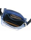 Фотография Темно-синяя кожаная сумка через плечо 52111-SGE