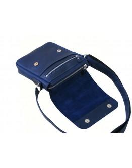 Темно-синяя кожаная сумка через плечо 52111-SGE