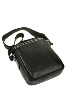Удобная сумка в руку и на плечо чёрного цвета 5608-1a
