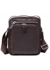 Удобная сумка в руку и на плечо коричневого цвета 5608-1c
