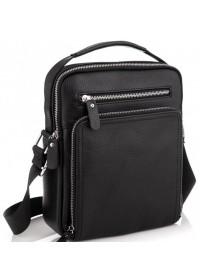 Черная удобная мужская сумка - барсетка Vintage 20247