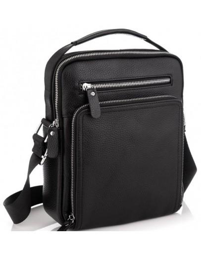 Фотография Черная удобная мужская сумка - барсетка Vintage 20247