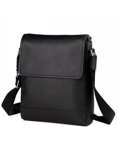 Фотография Удобная кожаная черная мужская сумка 5831-1
