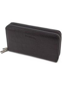Черный мужской кожаный вместительный клатч Marco Coverna 5902A