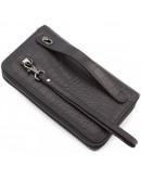 Фотография Черный мужской кожаный вместительный клатч Marco Coverna 5902A