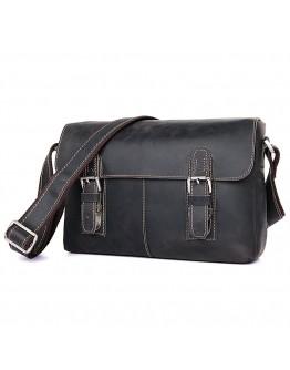 Темно-коричневая удобная сумка мужская на плечо 76002J