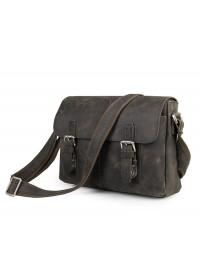 Кожаная добротная сумка на плечо из кожи лошади 76002R