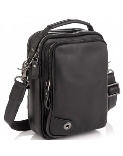 Фотография Черная мужская небольшая сумка - барсетка Tiding Bag 6009A