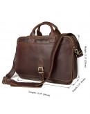 Фотография Портфель коричневого цвета из лошадиной кожи 76020