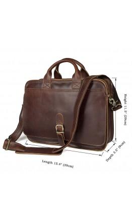 Портфель коричневого цвета из лошадиной кожи 76020