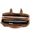 Фотография Добротный коричневый портфель из лошадиной кожи 76020B