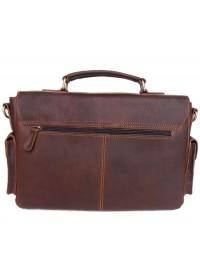 Коричневый брутальный мужской кожаный портфель 76037