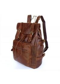 Шикарный кожаный рюкзак коричневого цвета 76058