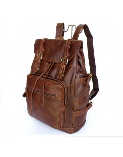 Фотография Шикарный кожаный рюкзак коричневого цвета 76058