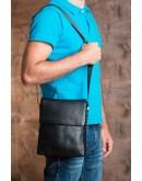 Фотография Удобная чёрная сумка из натуральной кожи 6068-1