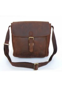 Большая сумка из лошадиной кожи на плечо 76091