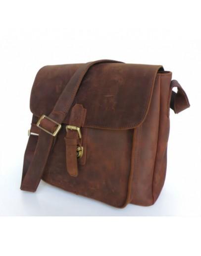 Фотография Большая сумка из лошадиной кожи на плечо 76091