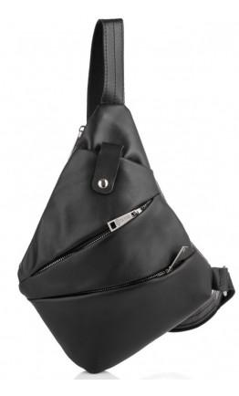 Черный мужской кожаный слинг на плечо Tarwa GA-6402-4lx