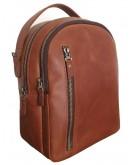Фотография Кожаный женский коричневый рюкзак 67228801W-SGE